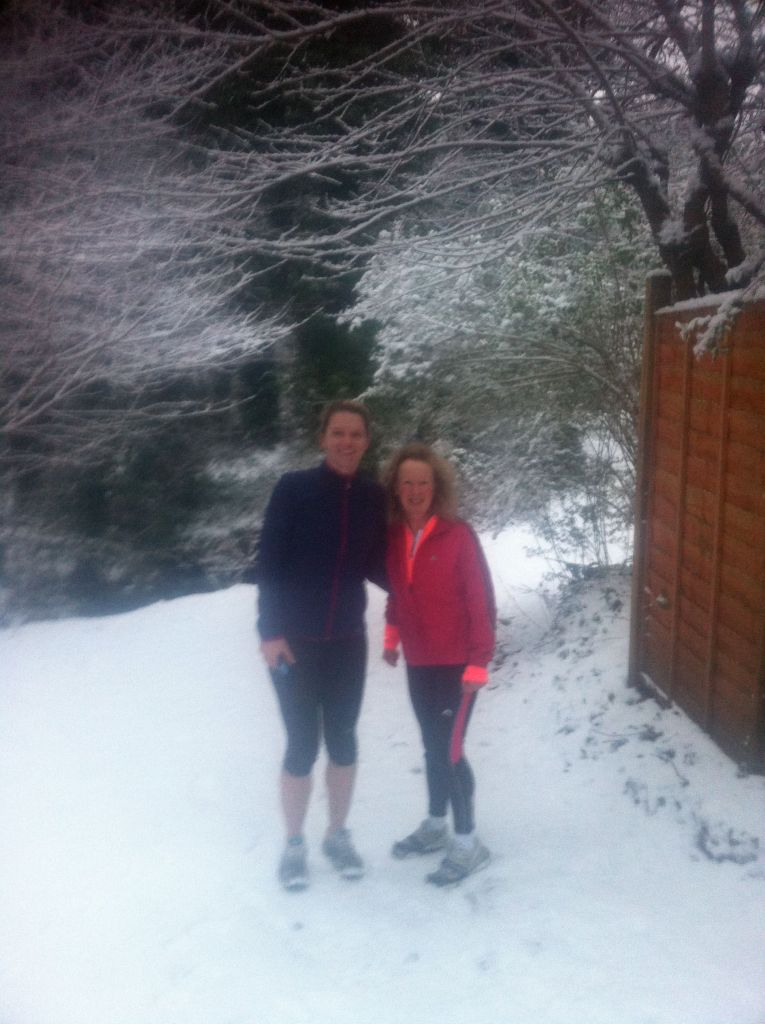 alison and Linda snow in Jan 2013