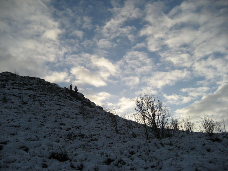 big snowy sky and hill