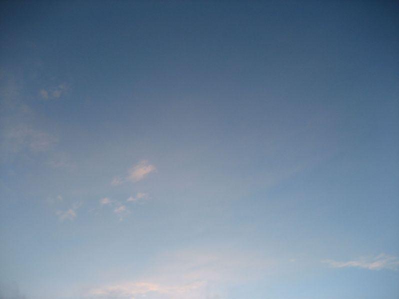 blue sky snow