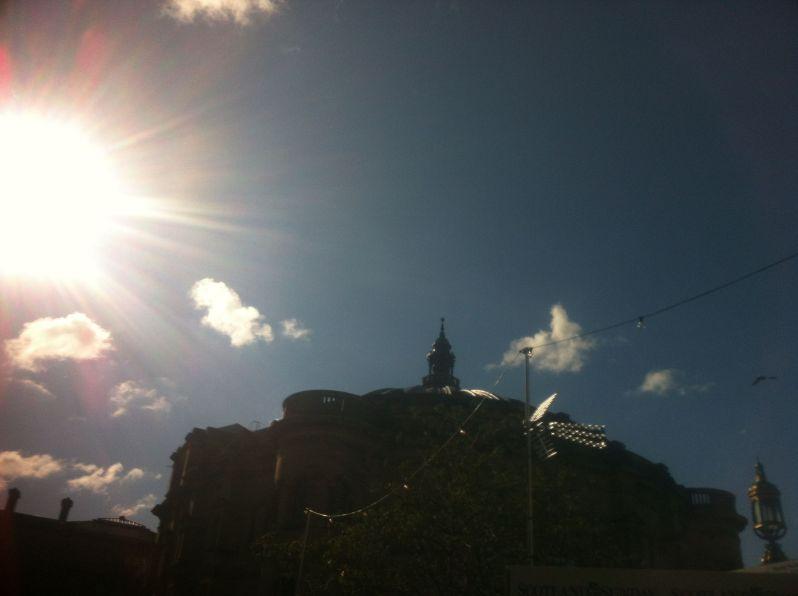 Edinburgh blue sky