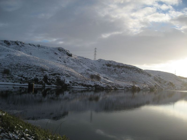 reservoir and snow