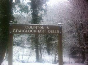 snow sign colinton dell