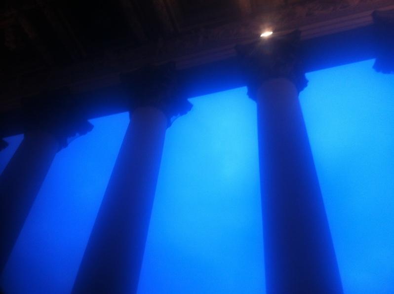 Pillars at dusk