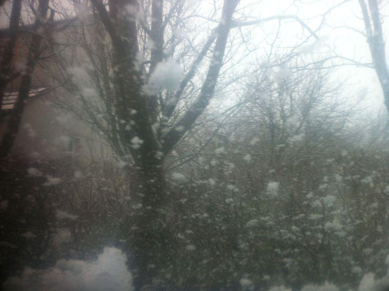 snowy windscreen