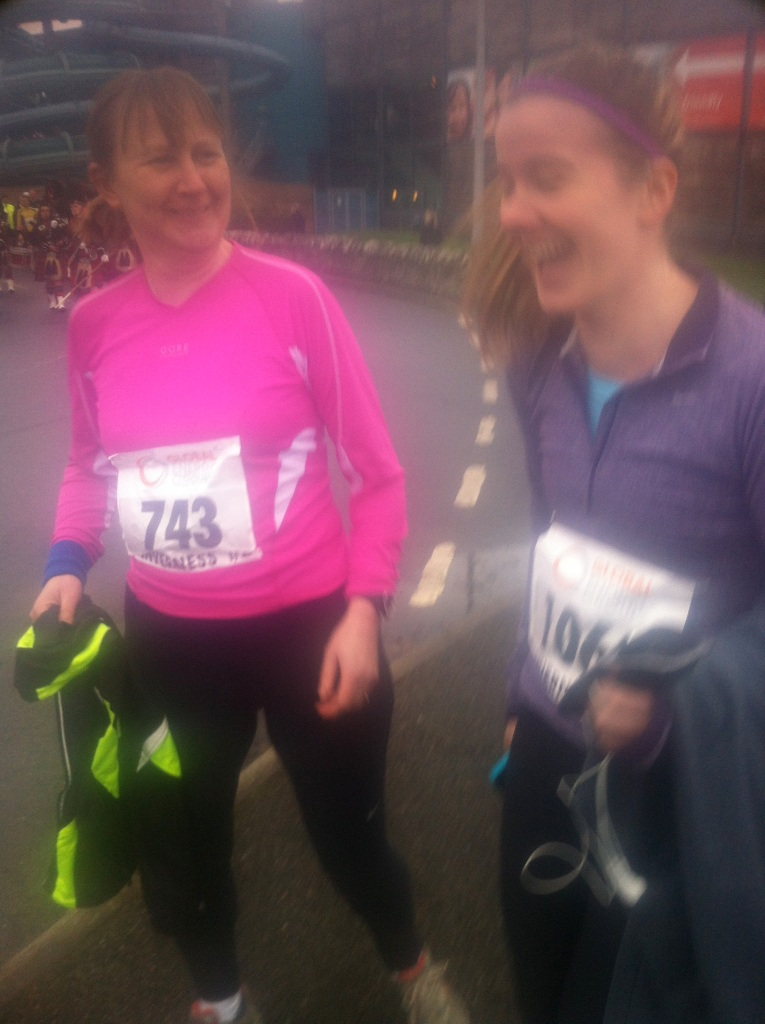 pre race laughter