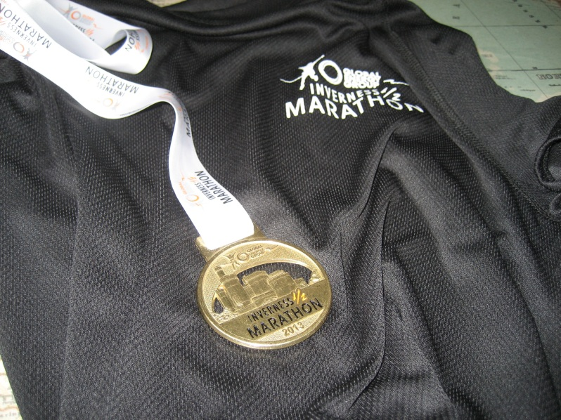 tee shirt and medal