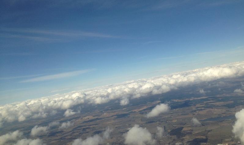 clouds above Edinburgh