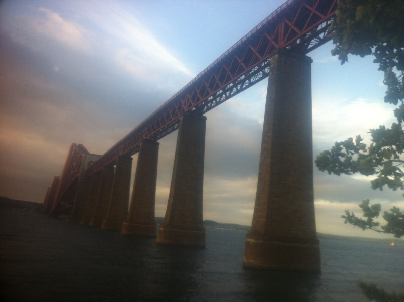 Forth Rail bridge looking towards Fife
