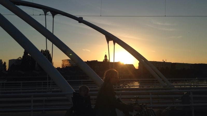 bike and bridge Amsterdam