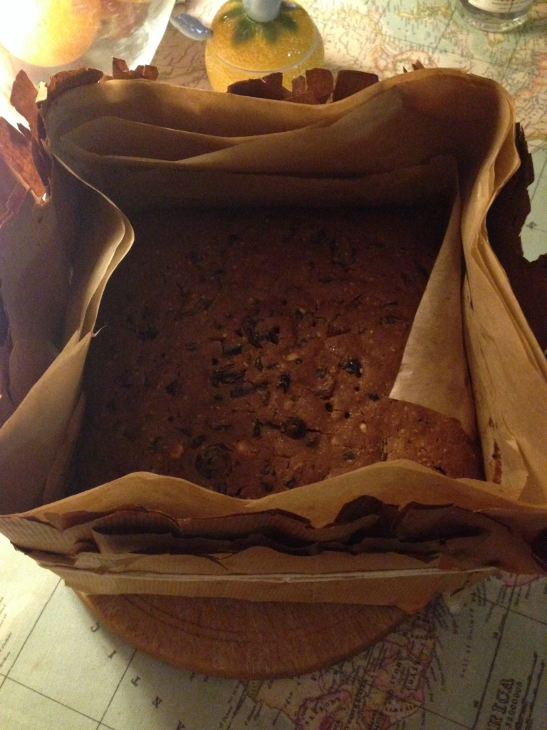 Christmas cake cooked version