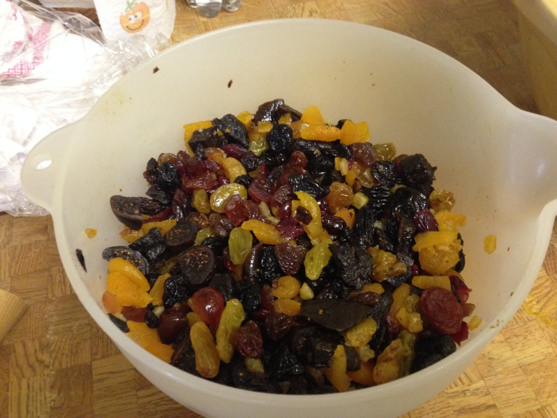 Dried fruit for Christmas cake