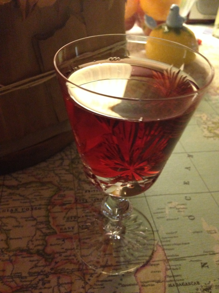 Cassis and wine Kir