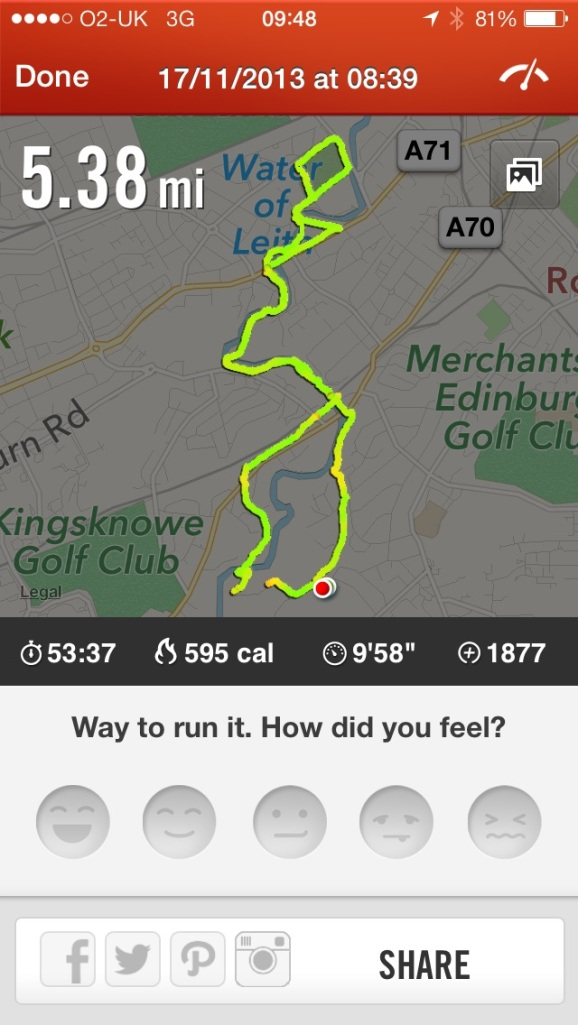 Nike+run route