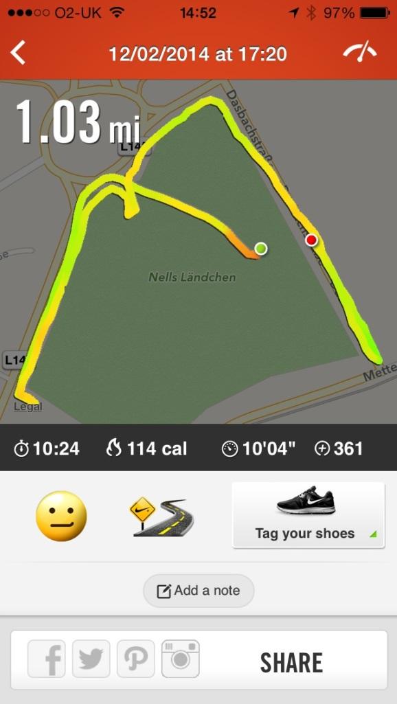 1 mile run