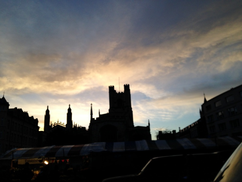 Cambridge market skyline