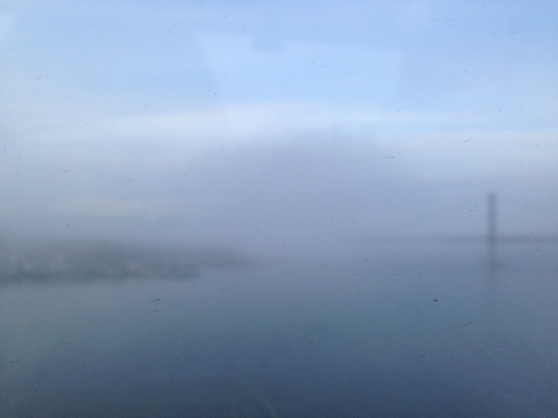 Forth Bridge lost in mist