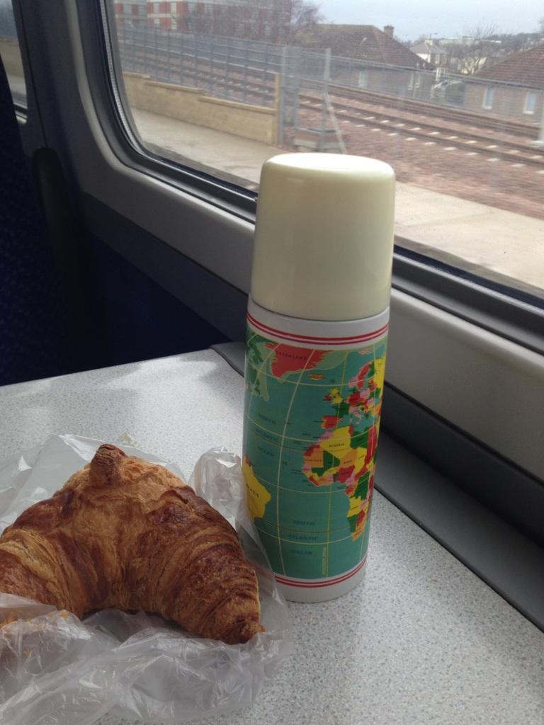 flask, croissant, training