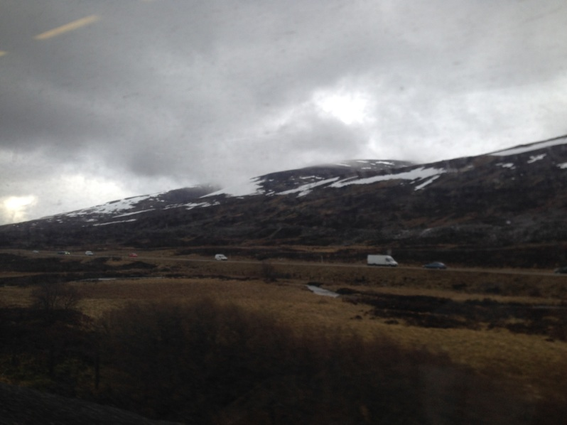 mountains, highlands train view