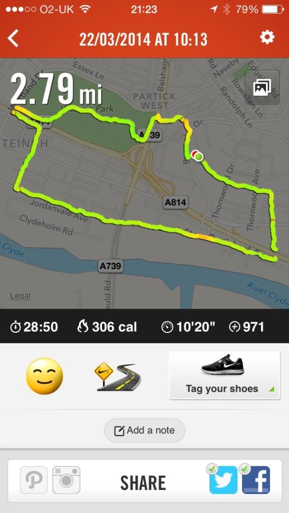 run route in Glasgow