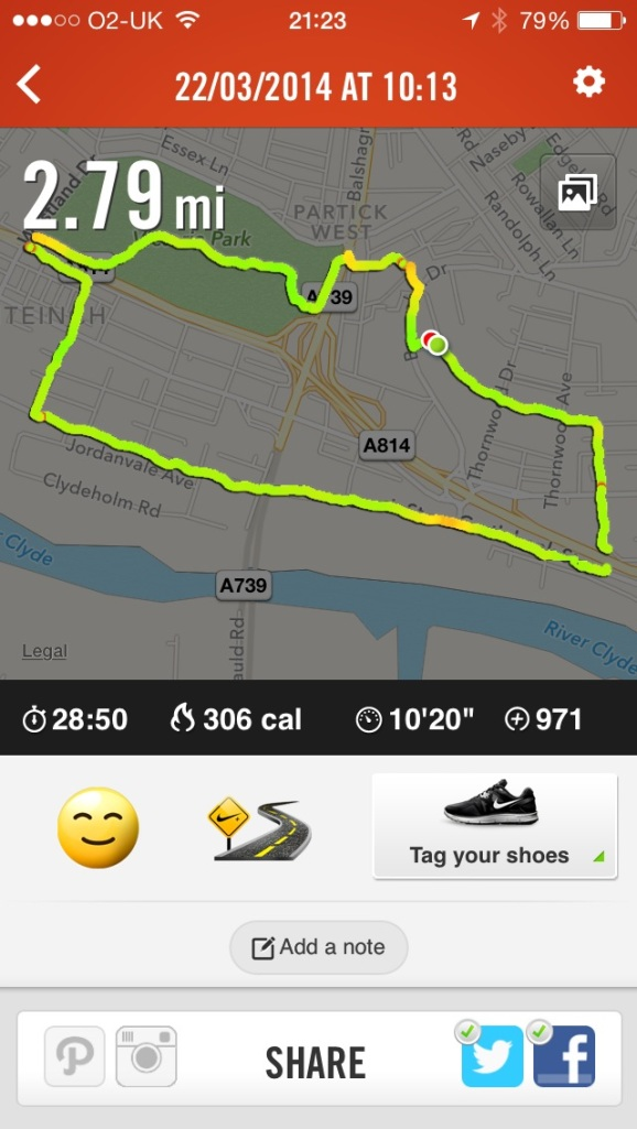 run route in Glasgow