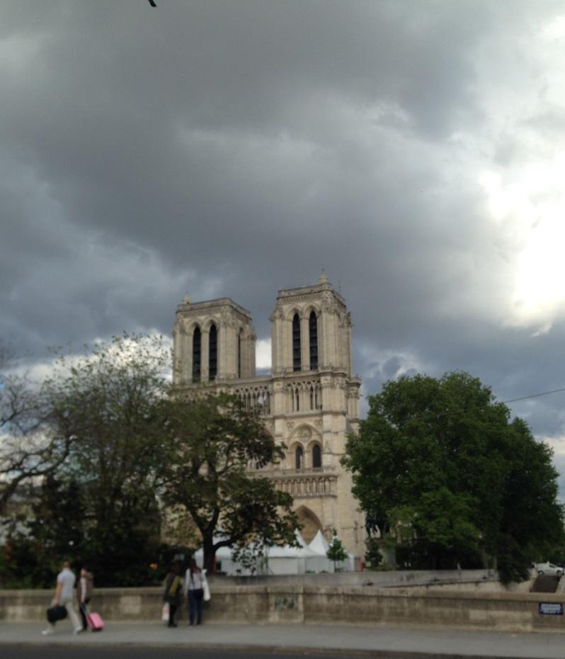 Notre Dame dark sky