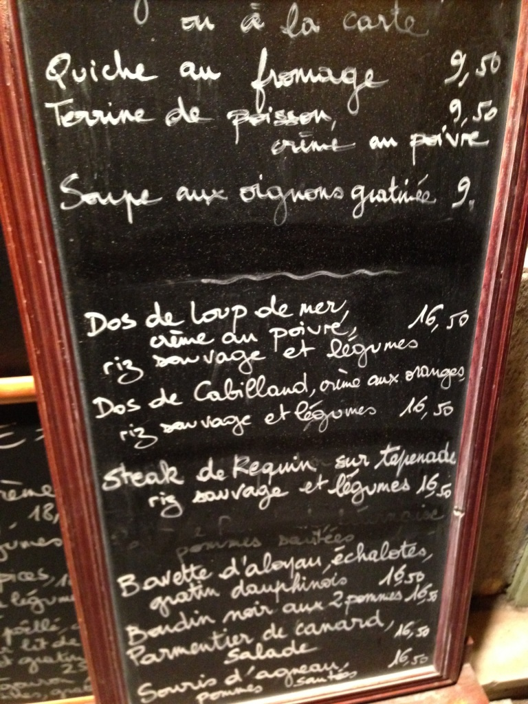 Paris, restaurant , menu