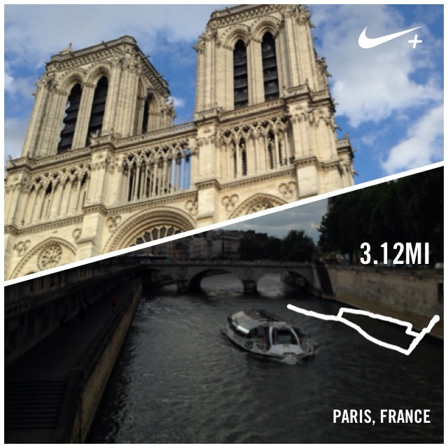 paris run Nike+