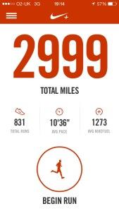 2999 miles