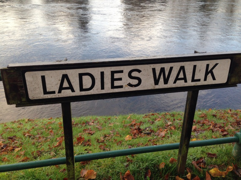 Ladies walk sign , Inverness