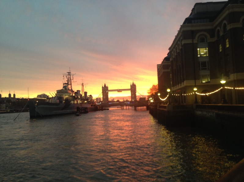 view from London bridge 2
