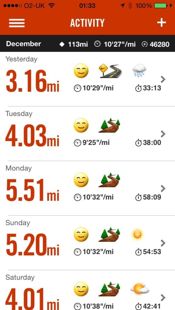 Dec running