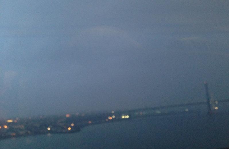 Forth bridge , grey skies
