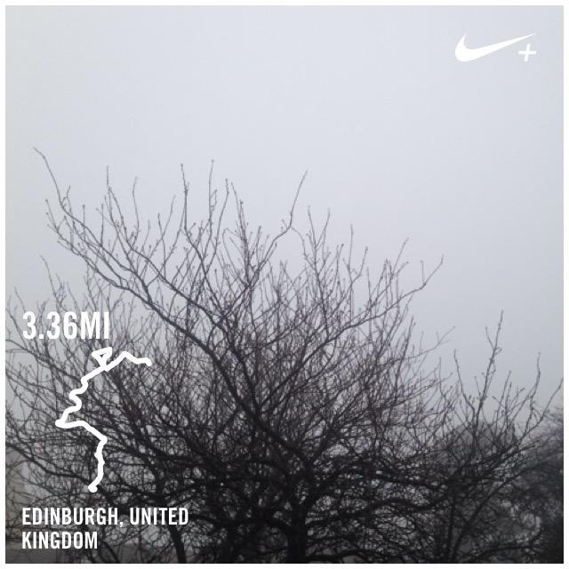 run, trees, weather, Nike+