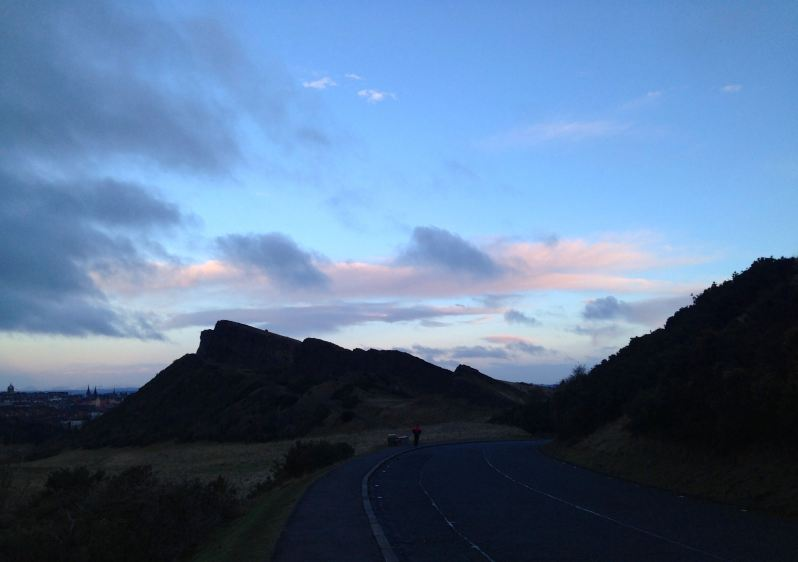 Salisbury crags in Edinburgh