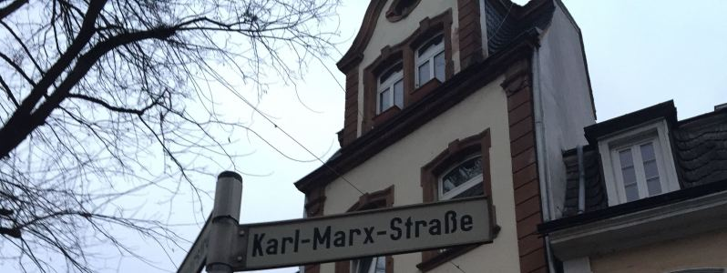 Karl Marx Strasse sign