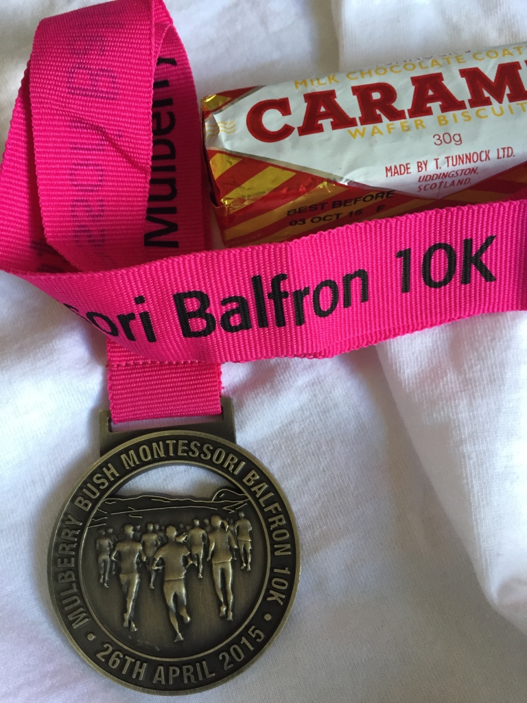 racing medal, Tunnocks caramel log