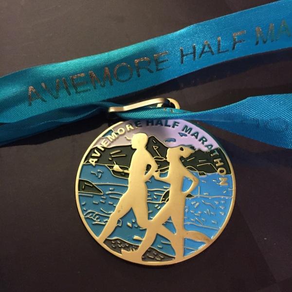 race medal aviemore half marathon 2015