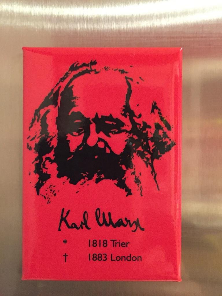 Karl Marx magnet gift