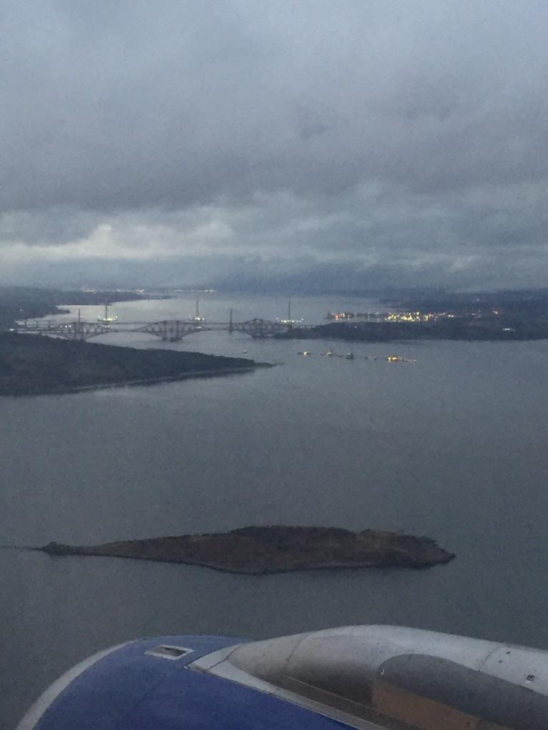 Edinburgh landing