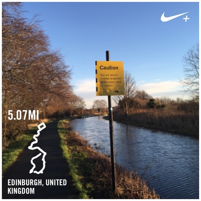 running picture and canal