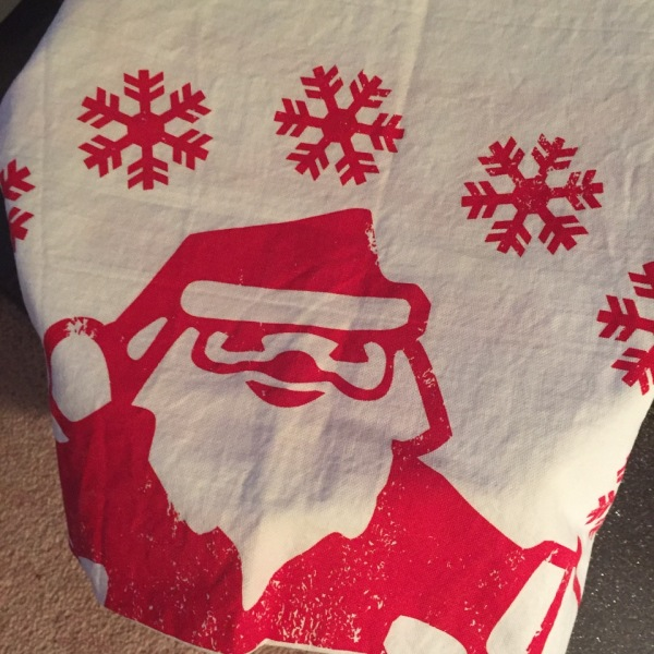 santa design tee towel pic
