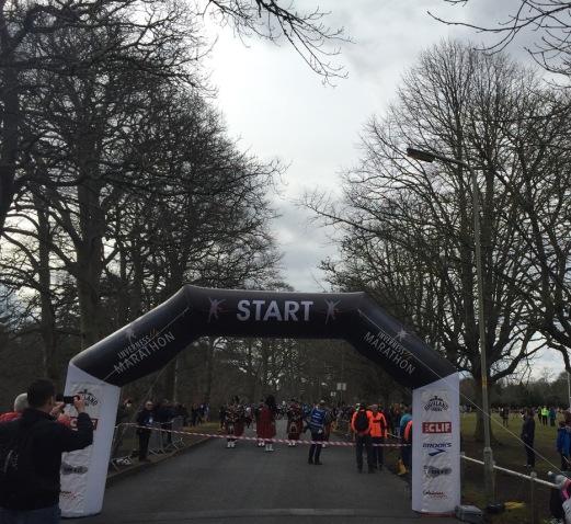 Race Gantry Inverness half
