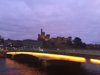 Ness bridge Inverness twilight