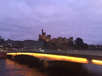 Ness bridge Inverness twilight