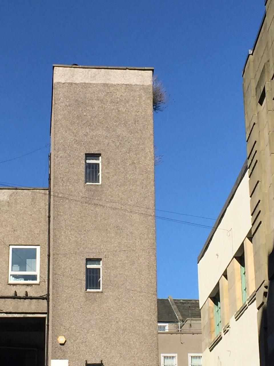 concrete building blue sky
