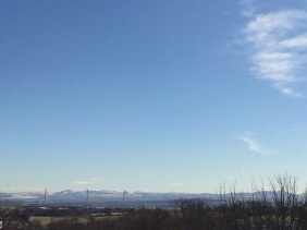 view form Dunfermline abbey to Edinburgh