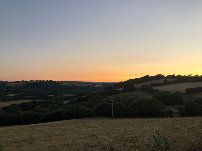 Devon sunset picture