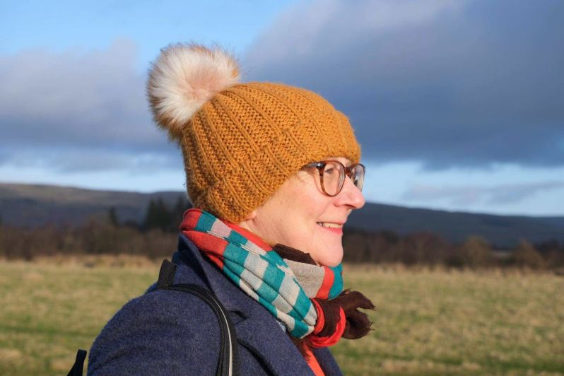 Margaret in a hat