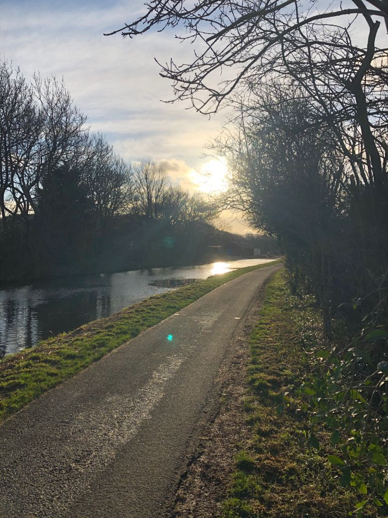 Union canal Edinburgh in afternoon light